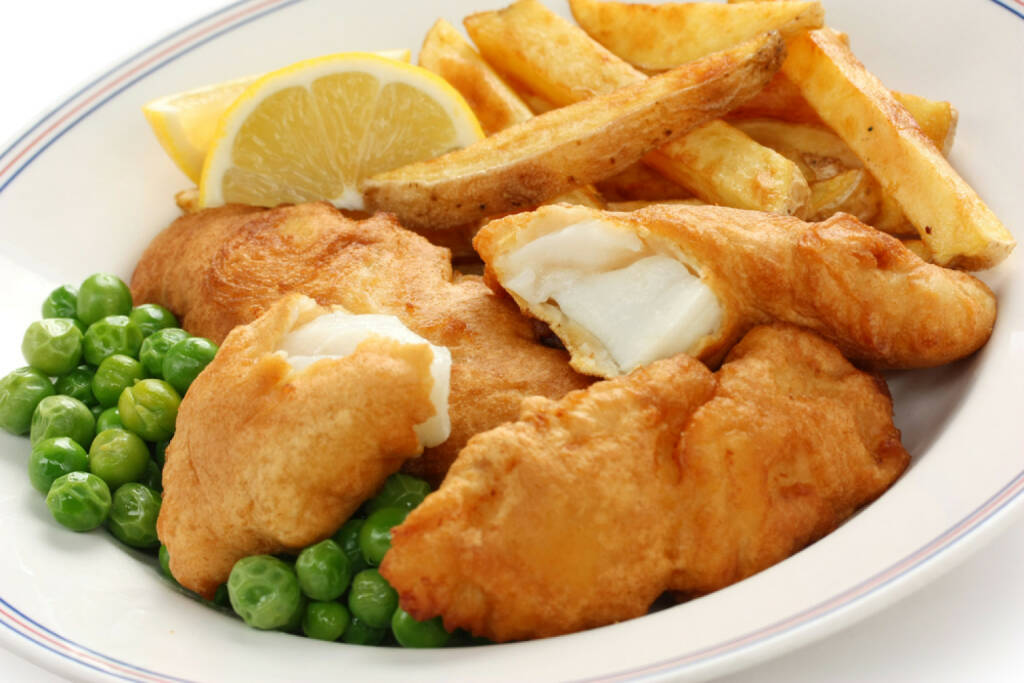 fish & chips, UK, food, Fisch, Erbsen, Pommes frites, http://www.shutterstock.com/de/pic-94482769/stock-photo-fish-and-chips-british-food.html , © www.shutterstock.com (12.07.2014)