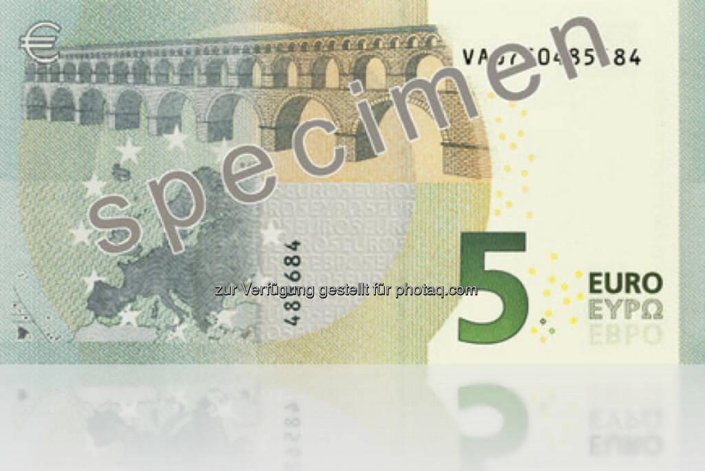 Die neue 5 Euro Note (Rückseite) - Ausgabe startet am 2. Mai 2013 (Bild: EZB/OeNB) (10.01.2013)