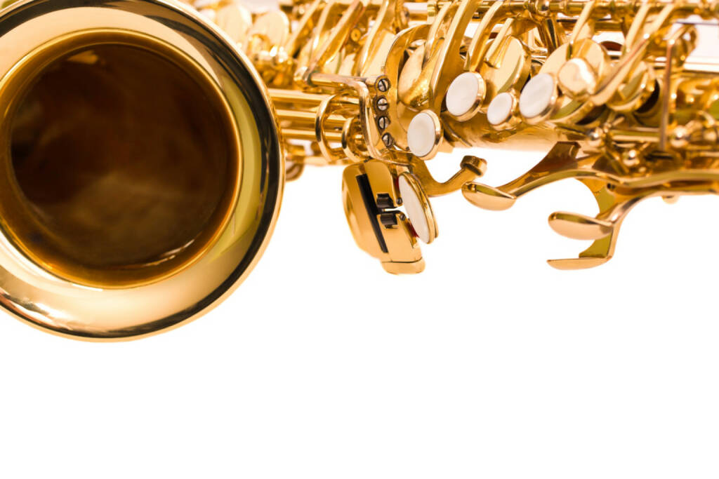 Saxophon, Musik, http://www.shutterstock.com/de/pic-196273022/stock-photo--fragment-saxophone-on-a-white-background.html , © www.shutterstock.com (14.07.2014)