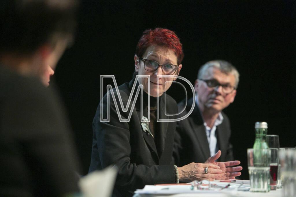 Heidi Schrodt (Vorsitzende Bildung Grenzenlos), Walter Emberger (GF teach for Austria), © Martina Draper (11.01.2013)