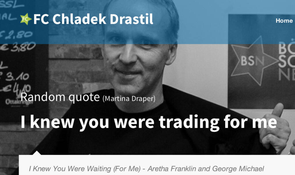 I Knew you were trading for me  (18.07.2014)