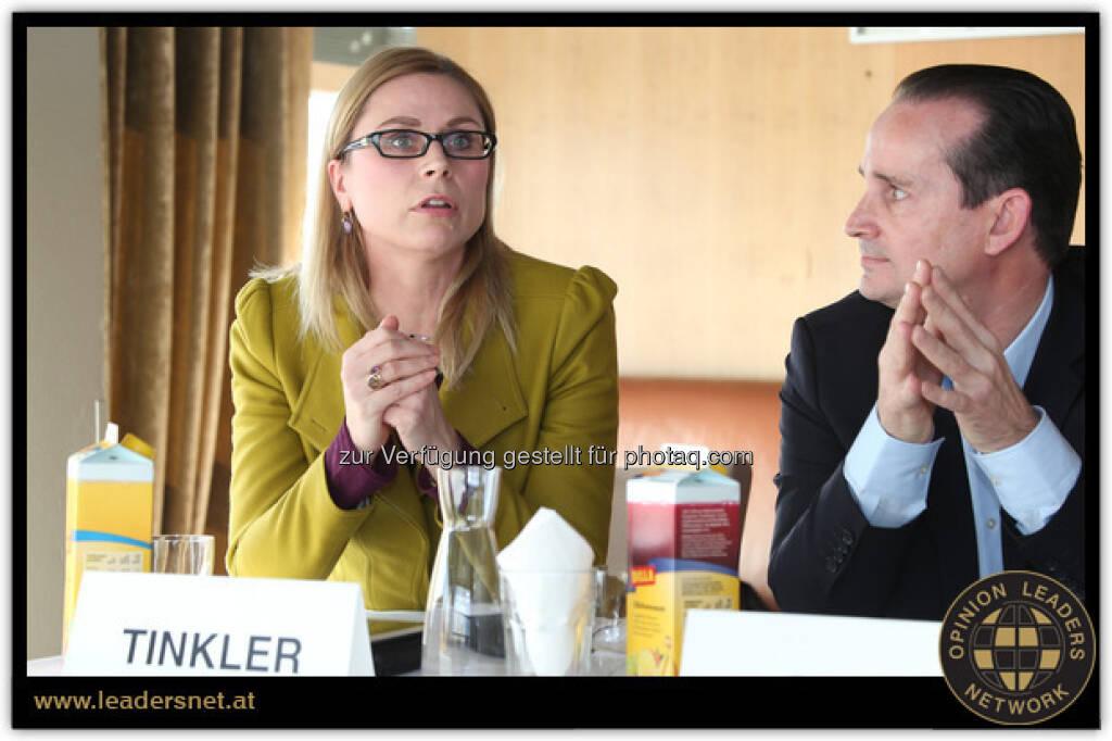 60 Jahre Billa: REWE-Sprecherin Corinna Tinkler und Billa-Vorstand Josef Siess (c) Katharina Schiffl (12.01.2013)
