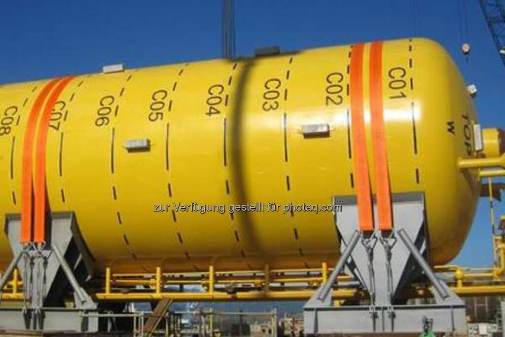 voestalpine Grobblech GmbH liefert Böden der Schwimmtanks (Buoyancy Tanks) für die Öl- und Gasgewinnung. Erfahren Sie mehr: http://bit.ly/1nDRBjK  Source: http://facebook.com/voestalpine, © Aussender (25.07.2014)