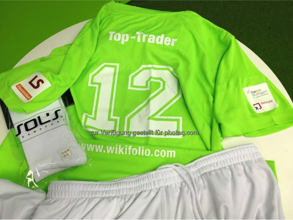 Das wikifolio Dream Team www.wikifolio.com/dream-team bekommt Fussballdressen, © Aussendung (25.07.2014)