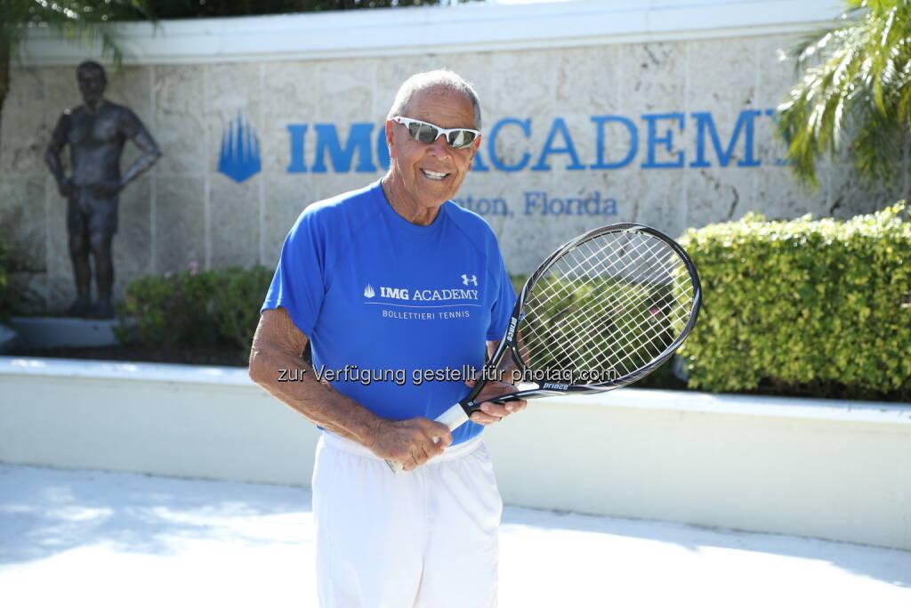Österreichischer Tennisverband: Tennisverband holt Startrainer Nick Bollettieri nach Wien! (c) IMG Academy, © Aussendung (25.07.2014)