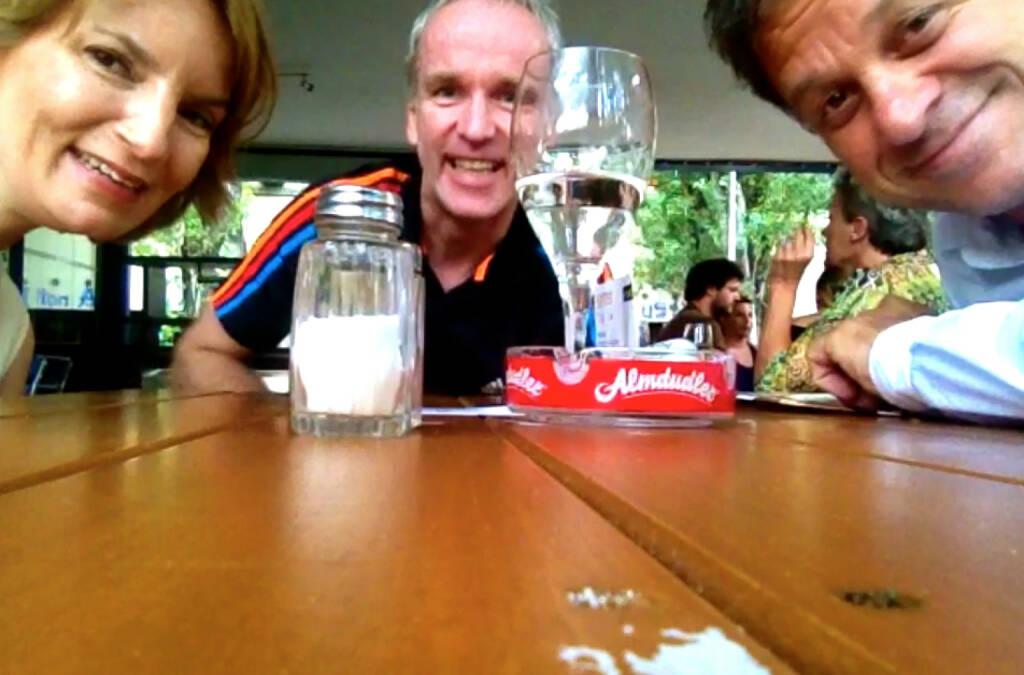 Veronika Rief, Christian Drastil, Fritz Schweiger auf der Summer Stage (29.07.2014)