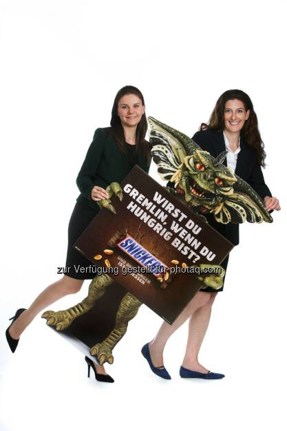 Mars Austria OG: Snicker(s) bringt die Gremlins(TM) zurück auf den Bildschirm: Petra Kaufmann (Brand Manager Chocolate Bars), Petra Nothdurfter (Marketing Director Chocolate & Food), Mars Austria OG, © Aussender (31.07.2014)