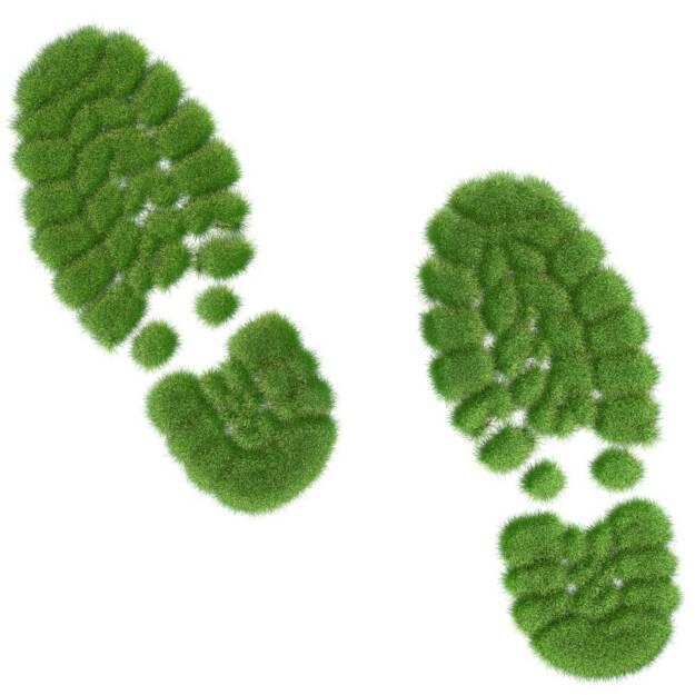 Fußabdruck, Fuss, Abdruck, grüner Fußabdruck, grün, eco, bio, Umwelt, umweltfreundlich, Öko, ökologisch, http://www.shutterstock.com/de/pic-149027984/stock-photo-green-shoe-prints-made-out-of-grass.html  (31.07.2014)