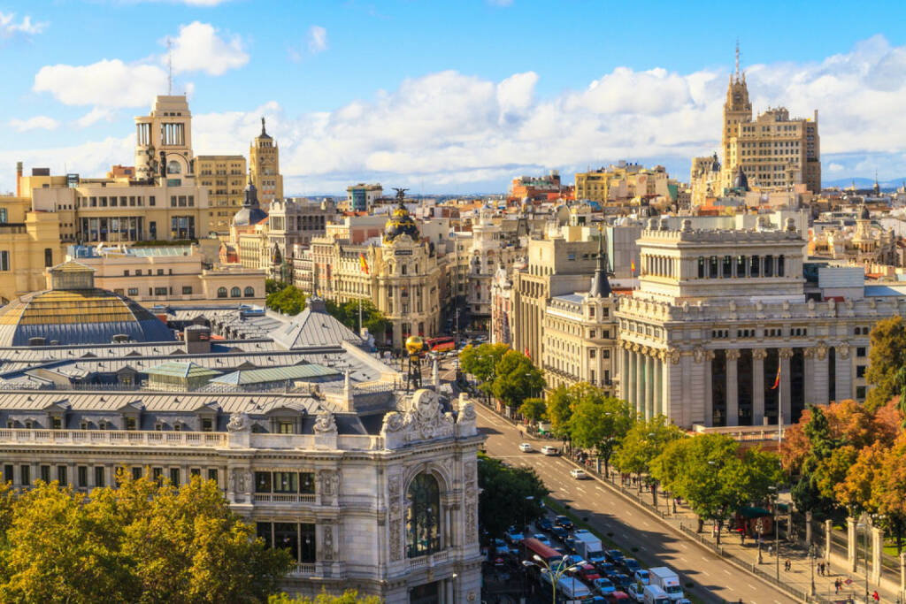 Madrid, Spanien, http://www.shutterstock.com/de/pic-146707415/stock-photo-madrid-cityscape-and-aerial-view-of-of-gran-via-shopping-street-spain.html , © shutterstock.com (04.08.2014)