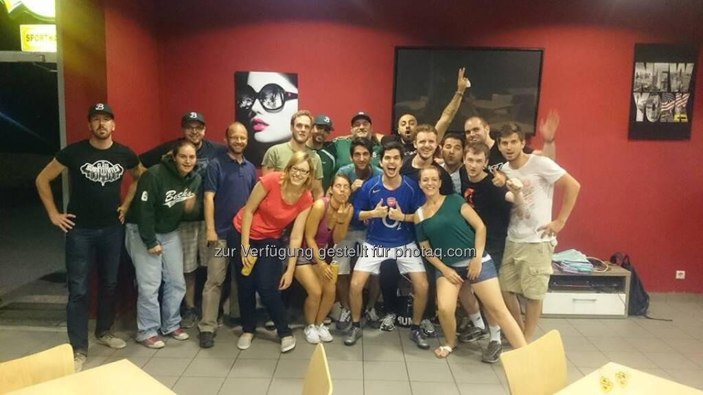 Softball-Teamevent bei und mit unserem Team, den Vienna Bucks Baseball! Hat super viel Spaß gemacht!! #whatchaSports #baseball  Source: http://twitter.com/whatchado, © Aussendung (05.08.2014)
