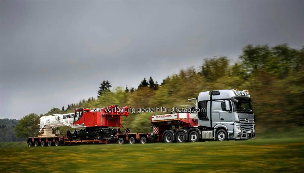 Der Truck von morgen und die Spitzentechnik von heute – Mercedes-Benz Lkw und Fuso auf der IAA Nutzfahrzeuge 2014 in Hannover: Mercedes-Benz; Actros; 4163; SLT; , © Aussendung (06.08.2014)