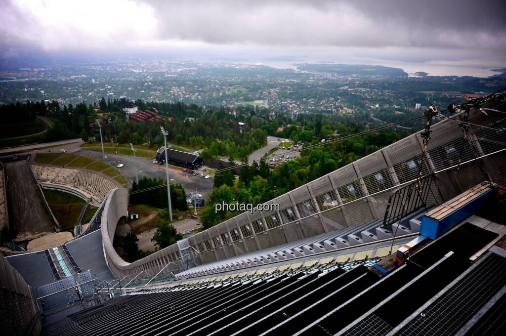 Holmenkollen, Zitterbalken, Oslo, Anlauf, Schanze, © photaq.com (07.08.2014)