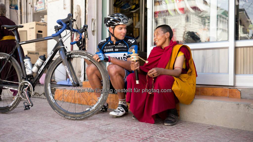 Weltrekord für den Grazer Extremradsportler Jacob Zurl,er hat den Himalaya nonstop mit dem Rad überquert, in einer Zeit von 38 Stunden und 41 Minuten, gesponsert wurde er vom Institut Allergosan (Bild: Raoul Kopacka), © Aussendung (07.08.2014)