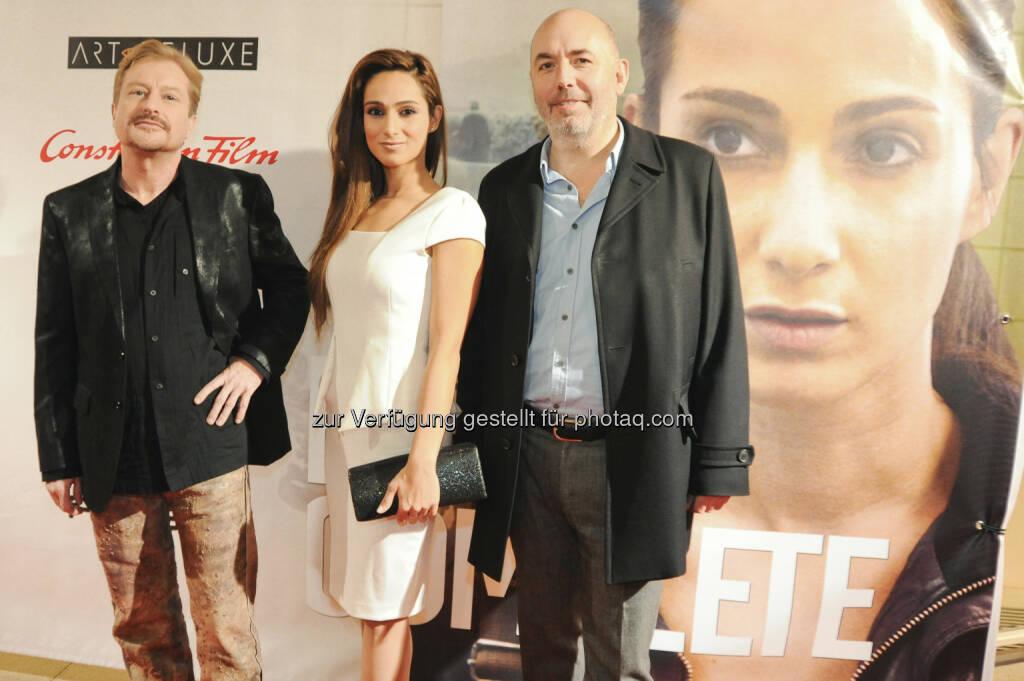 Robert Hofferer, Asli Bayra, Lukas Sturm -  Body Complete. Der erste PULS 4 Kinofilm feierte seinen Start (c) Joanna pianka für Society24.at (16.01.2013)