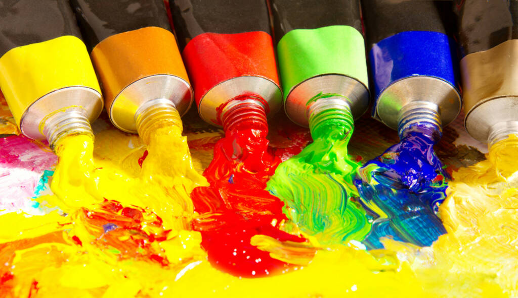 Farben, bunt, mischen, vermischen, mixen, Tube, malen, http://www.shutterstock.com/de/pic-74270473/stock-photo-multicolored-tubes-of-paint-several-colors-on-palette.html, © www.shutterstock.com (17.01.2018)