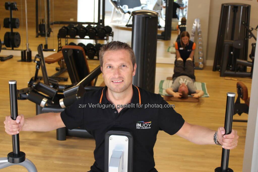 Injoy siegt im österreichweiten Format und Ögvs Fitnessstudiotest: Injoy Franchisegeber Andreas Thurne, © Aussendung (12.08.2014)