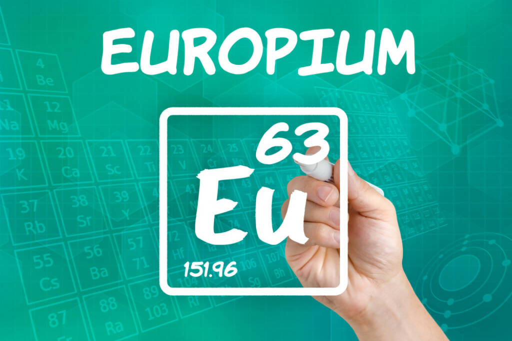 Europium, Seltene Erden, Metall, http://www.shutterstock.com/de/pic-152211170/stock-photo-symbol-for-the-chemical-element-europium.html, © www.shutterstock.com (15.08.2014)