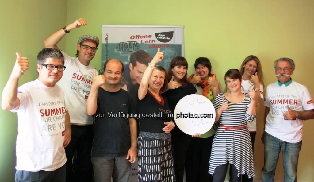 Volkshilfe Wien: Junge Volkshilfe schloss Farsi-Kurs im Eton Institute ab, © Aussendung (17.08.2014)