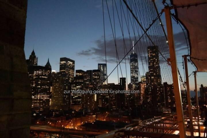 New York Manhattan bei Nacht