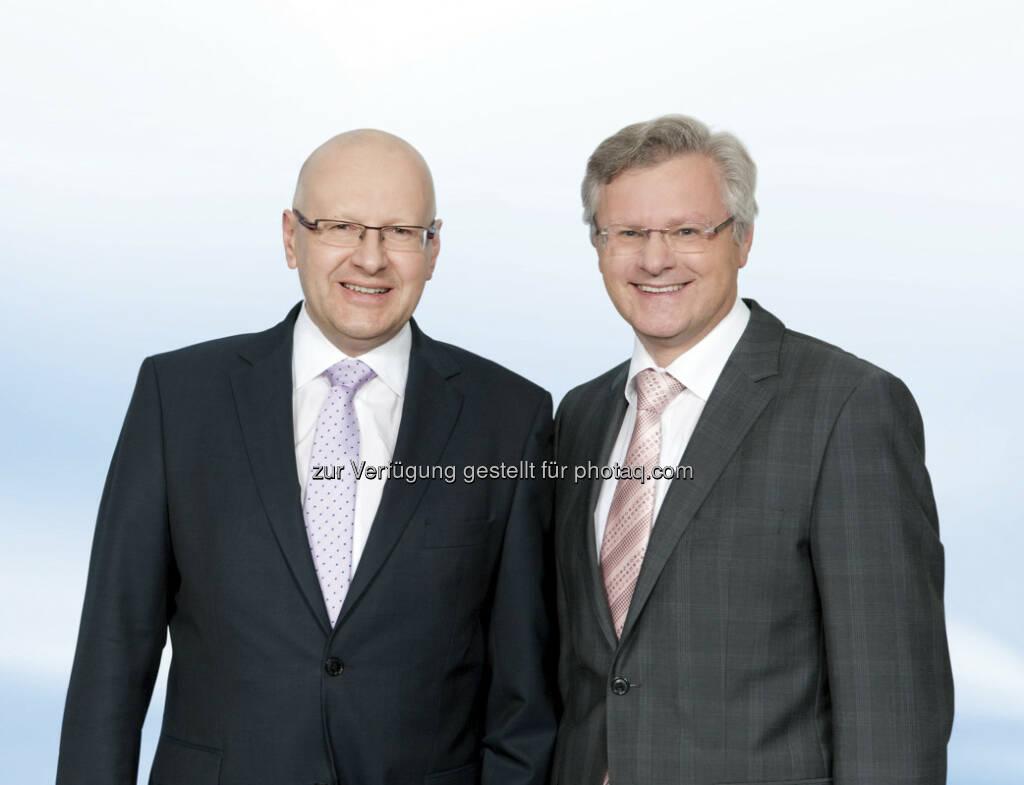 BWT-Vorstände Andreas Weißenbacher und Gerhard Speigner: BWT gab bekannt, das seit 2001 bestehende ADR Level-1 Programm zu beenden. Ein entsprechende Beauftragung ergehe in Kürze an den Sponsor des Programms, die Bank of New York Mellon (c) BWT  (17.01.2013)
