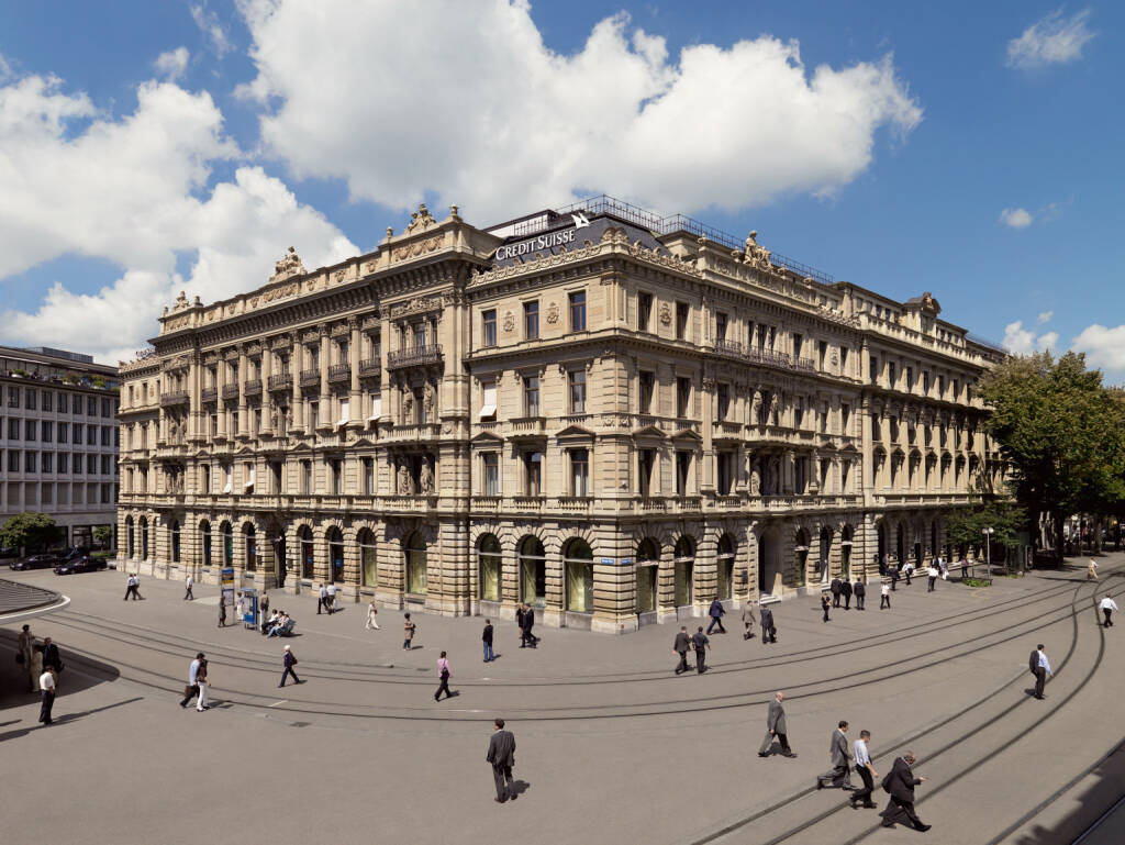 Credit Suisse Group - Headquarters, Paradeplatz, Zürich (Bild: Credit Suisse), © photaq.com (19.08.2014)