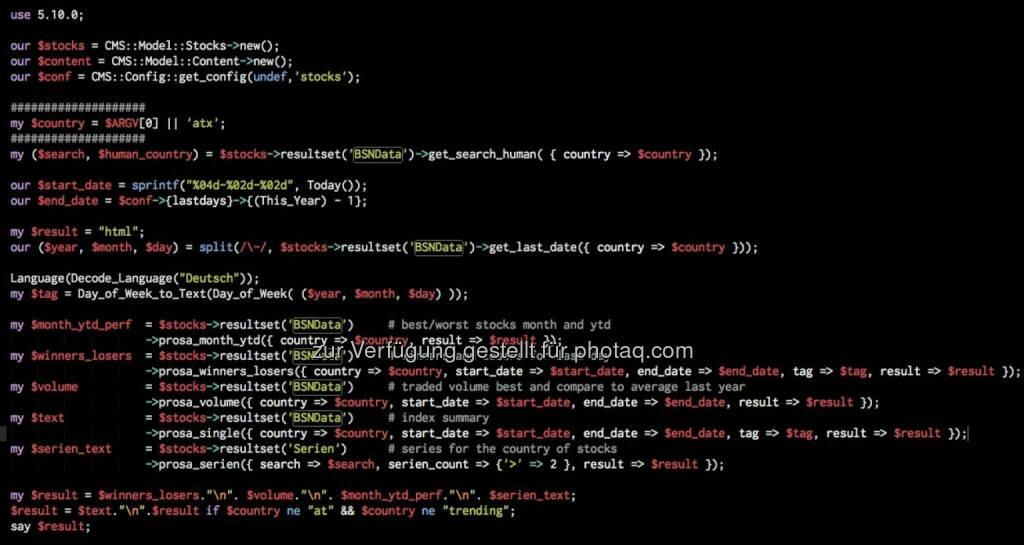 Screenshot Perl Code der BSNgine - generiert zb die Prosa von http://boerse-social.com/2014/08/21/atx_detailliert_rbi_mit11_plus_und_doppeltem_umsatz_rhi_bereits_8_tage_im_plus_3_neue_3er_serien_gestartet (22.08.2014)