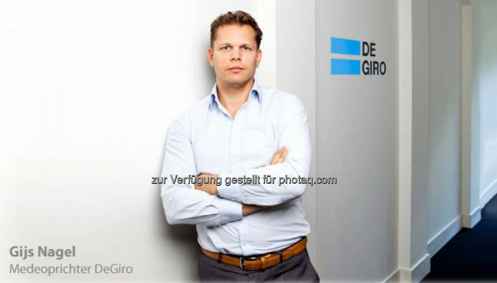 Gijs Nagel startet mit seiner Brokerage unter degiro.at nun auch in Österreich, © Aussender (27.08.2014)