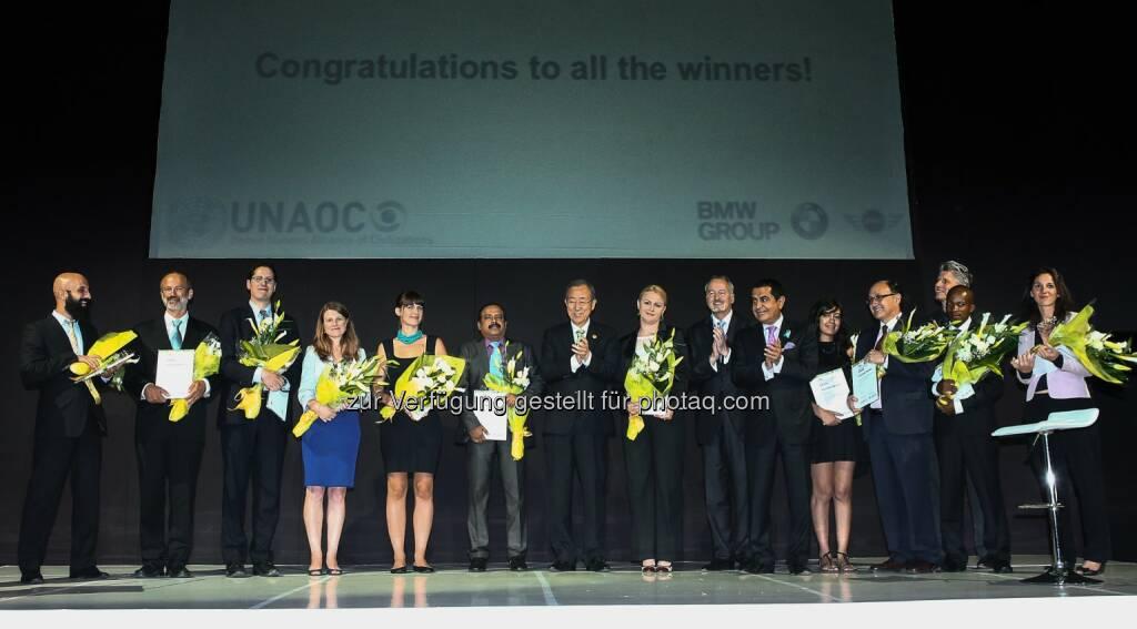 BMW Group: United Nations Alliance of Civilizations (UNAOC) und BMW Group verleihen Intercultural Innovation Award 2014  obs/BMW Group/Leonard Adam, © Aussendung (29.08.2014)
