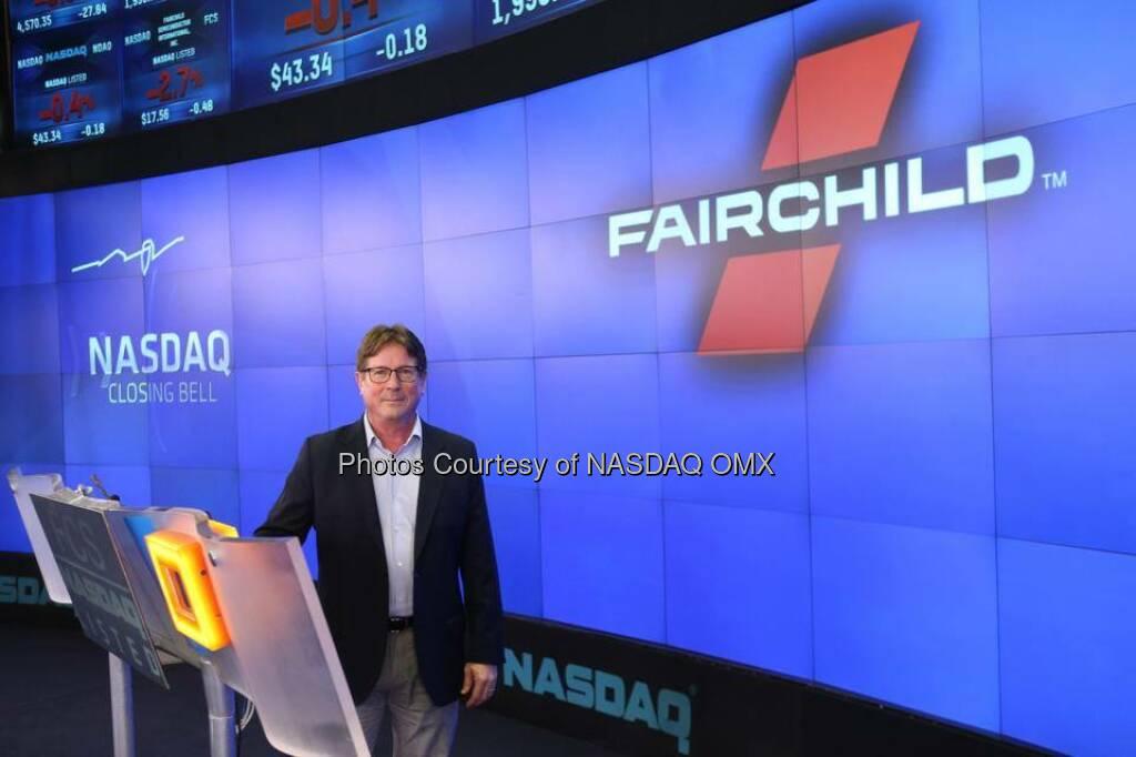 Fairchild Semiconductor rings the #NASDAQ Closing Bell  Source: http://facebook.com/NASDAQ (04.09.2014)