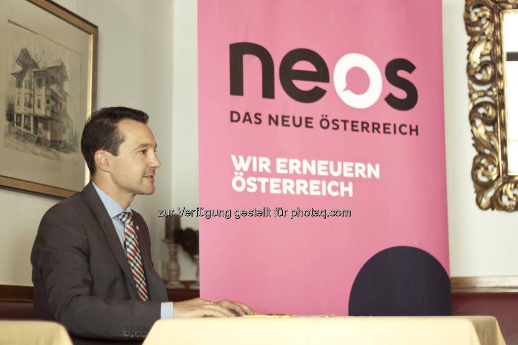 Gerald Loacker (NEOS-Sozialsprecher): Staatliches Pensionssystem reformieren, private Vorsorge aufwerten (Bild: NEOS) (04.09.2014)
