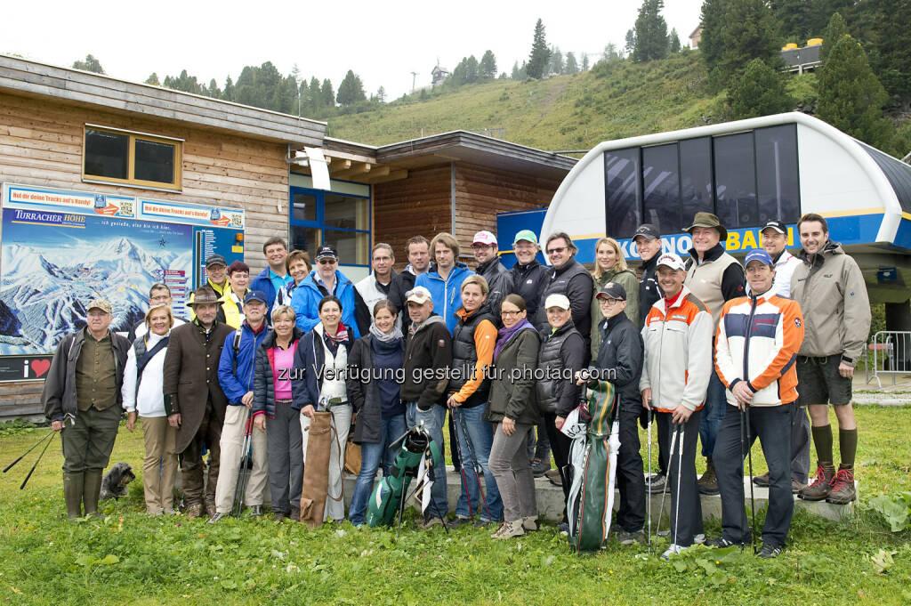 Turracher Höhe Marketing GmbH: Downhillgolf-Charity Golf auf de Turracher Höhe: Bei diesem  Golfturnier wird von 2.205 Meter abgeschlagen und bergab gegolft., © Aussendung (08.09.2014)