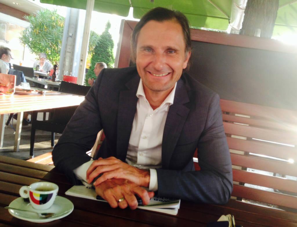 Mit Styria-Vorstand Klaus Schweighofer im Sasso (09.09.2014)