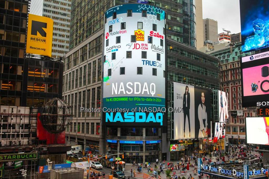NASDAQ is the #1 exchange for IPOs to date in 2014!  Source: http://facebook.com/NASDAQ (10.09.2014)