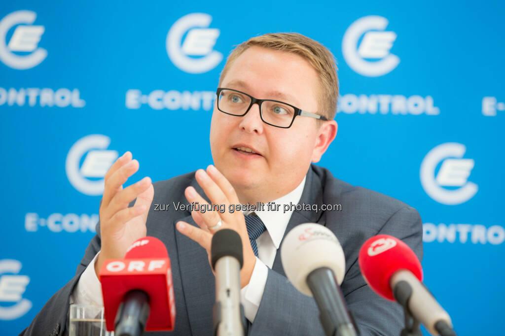 Martin Graf, Vorstand Energie-Control Austrial: 2013 erstmals kein Graustrom an Haushalte geliefert, © Aussendung (10.09.2014)