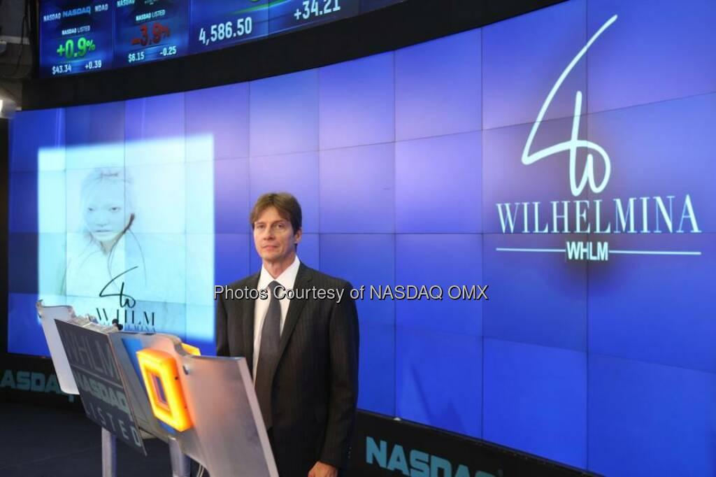 Wilhelmina Models rang the NASDAQ Closing Bell today! $WHLM  Source: http://facebook.com/NASDAQ (11.09.2014)