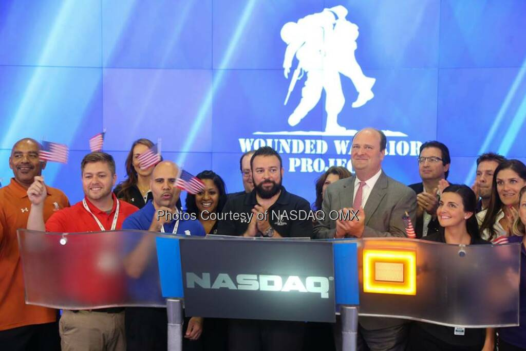 Great photos from the Wounded Warrior Project ringing the NASDAQ Closing Bell Today!  Source: http://facebook.com/NASDAQ (12.09.2014)