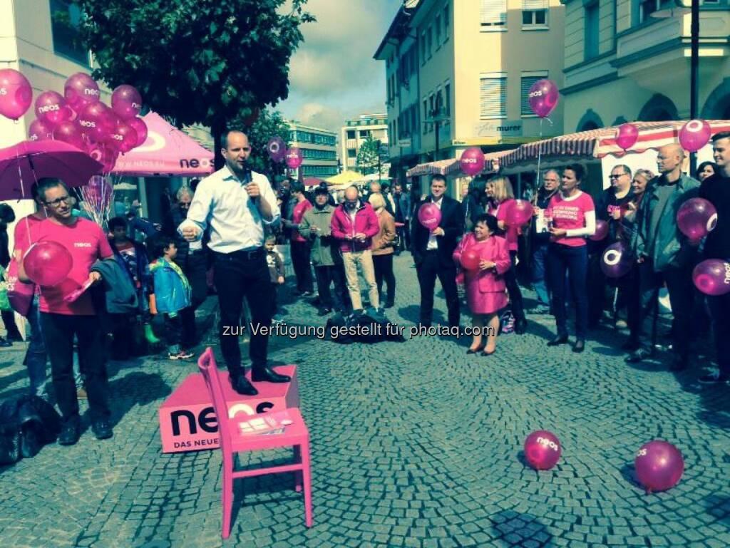 Matthias Strolz auf dem Podest (13.09.2014)