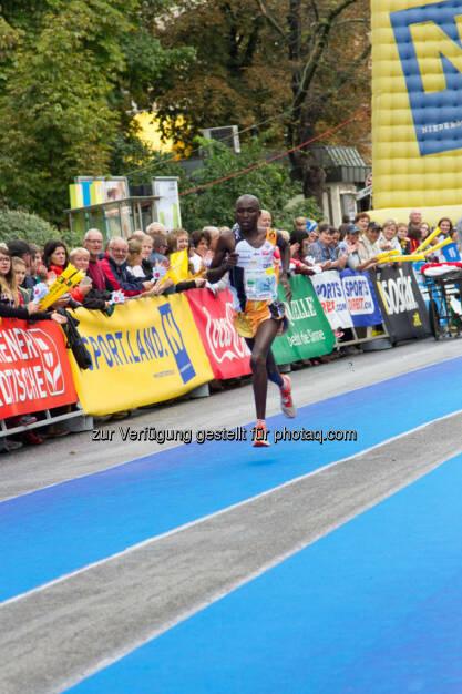 Bett Bernard-Kiplangat, 2. Platz Halbmarathon Herren, Wachau Marathon 2014, © Milena Ioveva  (14.09.2014)