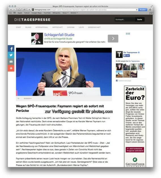 Premium-Onlinevermarkter von Russmedia Digital übernimmt Vermarktung von dietagespresse.com. (16.09.2014)