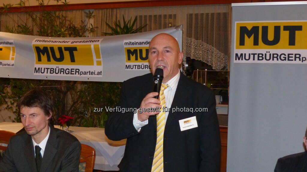 Mutbürgerpartei.at - der Spitzenkandidat für NÖ: Herbert Weinzettl (c) Aussendung (25.01.2013)