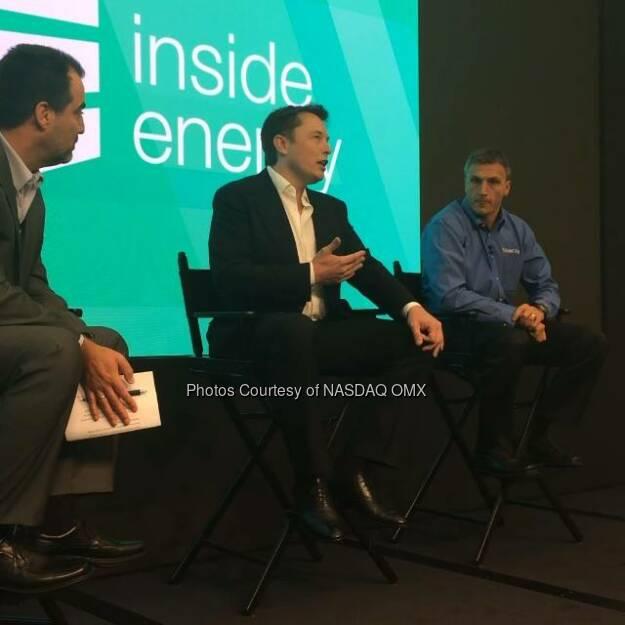 Elon Musk says that even in #Manhattan solar could make a huge impact! #InsideEnergy @solarcity @elonmusk  Source: http://facebook.com/NASDAQ (18.09.2014)