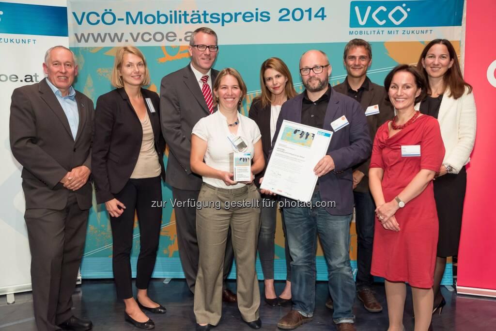 VCÖ-Mobilitätspreis Österreich für Energieinstitut Vorarlberg und Cirpa, © Aussendung (19.09.2014)