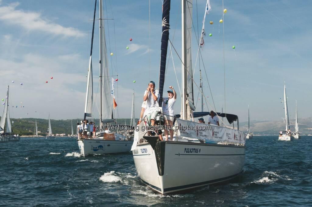 friedensflotte mirno more (Verein): Die friedensflotte mirno more 2014 im 20sten Jubiläumsjahr mit 106 Schiffen gesegelt, © Aussender (19.09.2014)