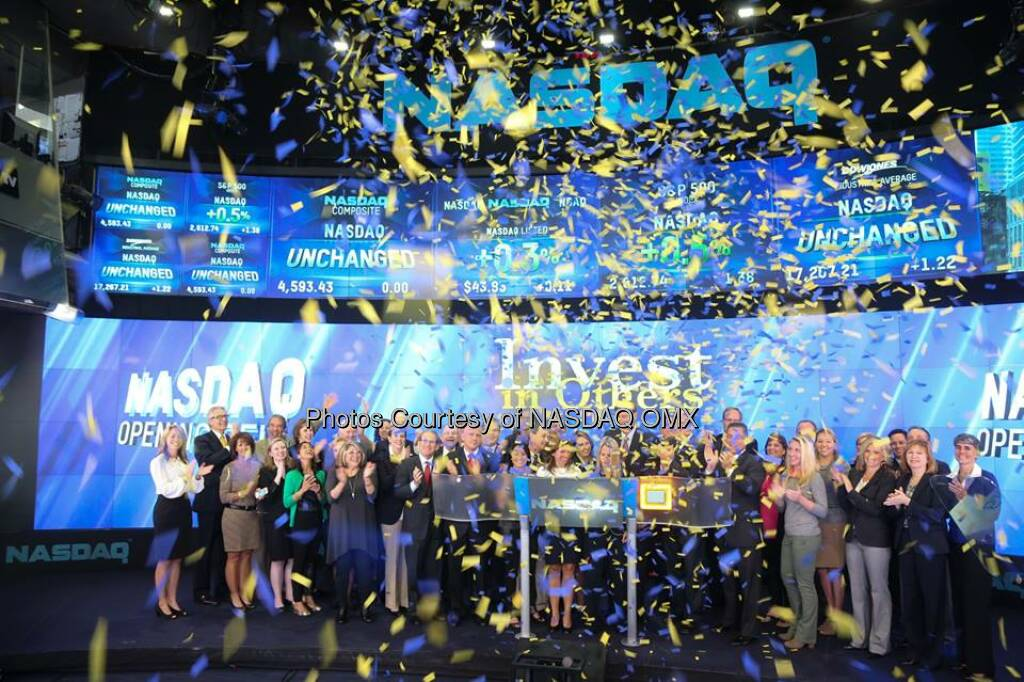 Great Photos from the Invest In Others Opening Bell Ceremony  Source: http://facebook.com/NASDAQ (20.09.2014)