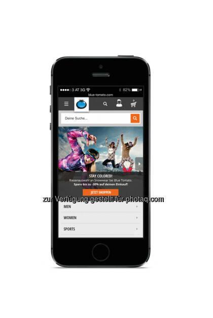 Blue Tomato (blue-tomato.com) hat die mobile Version seines Online-Shops mit mehr als 450.000 Produkten neu aufgesetzt. (Bild: blue-tomato.com) (22.09.2014)
