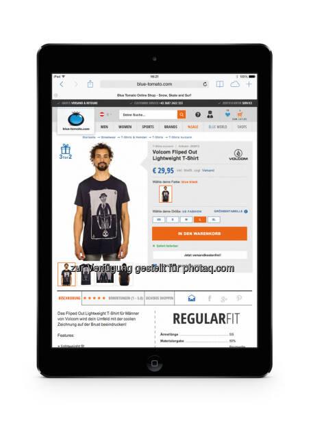 Mehr als 35 Prozent der Bestellungen bei Blue Tomato (blue-tomato.com) werden bereits über Smartphones und Tablets getätigt. (Bild: blue-tomato.com) (22.09.2014)