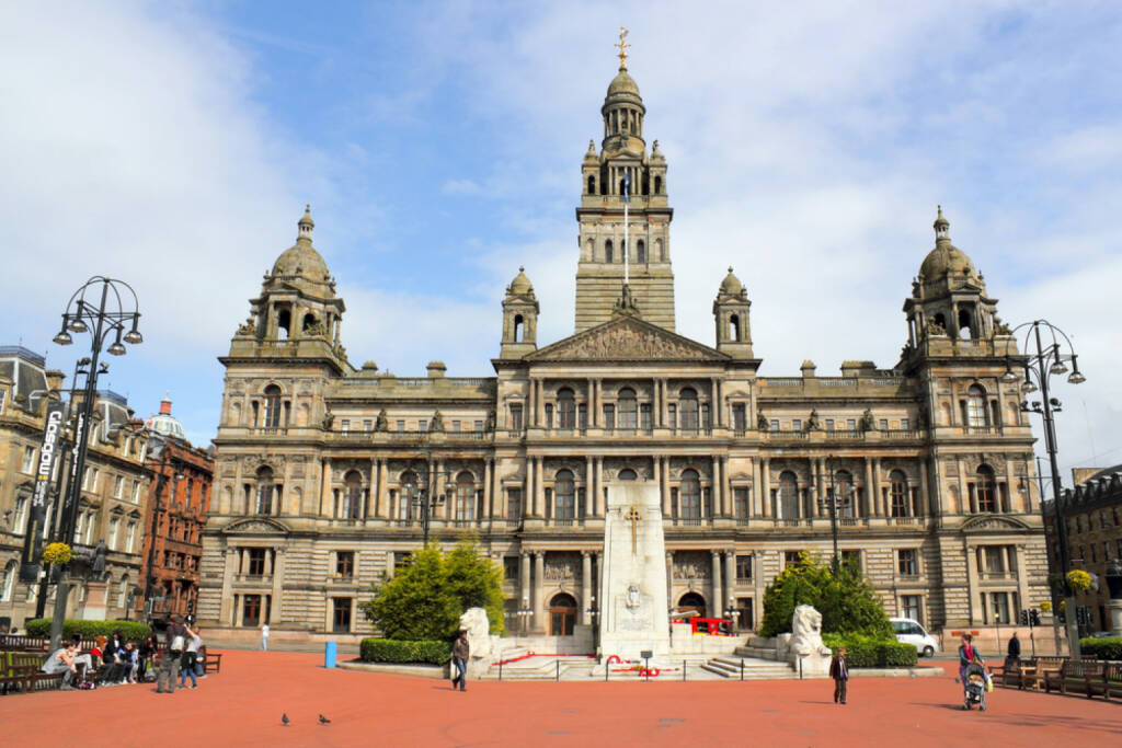 Schottland, Glasgow, Rathaus, http://www.shutterstock.com/de/pic-166775057/stock-photo-city-hall-of-glasgow.html, © shutterstock.com (22.09.2014)