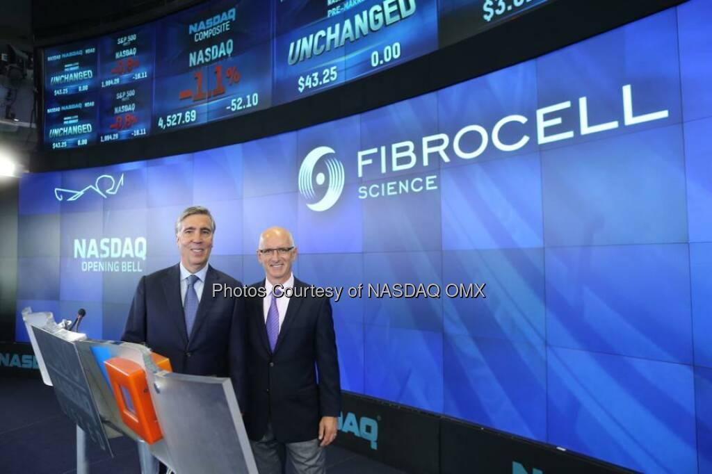 Fibrocell rings the #NASDAQ Opening Bell! $FCSC  Source: http://facebook.com/NASDAQ (23.09.2014)