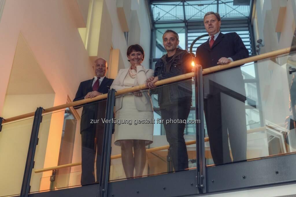 Alfred Kordasch; Herta Stockbauer; Thomas Maurer; Nikolaus Juhasz: BKS Bank präsentiert Neues Programm von Thomas Maurer (23.09.2014)