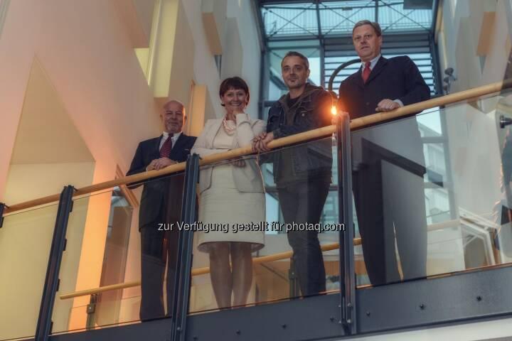 Alfred Kordasch; Herta Stockbauer; Thomas Maurer; Nikolaus Juhasz: BKS Bank präsentiert Neues Programm von Thomas Maurer